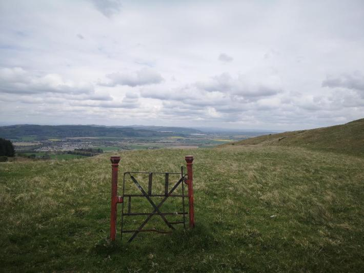 Gate at Scotts view, Perthshire - little walks from home during lockdown
