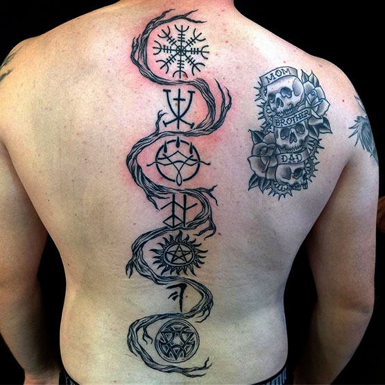 Tattoos Going Down Your Spine