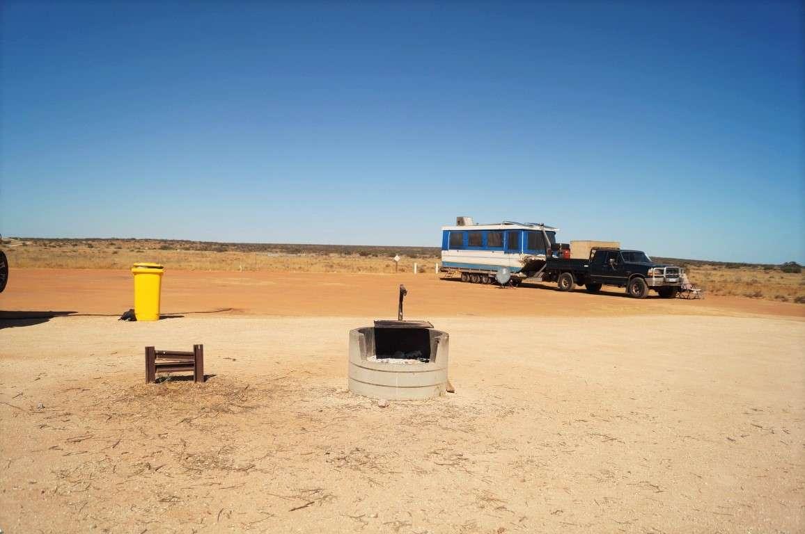 Lyndon rest area fire pit