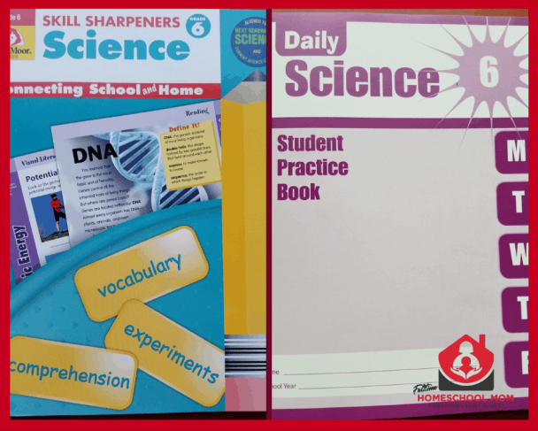 Student worbooks. Daily science and Skill Sharpeners Science