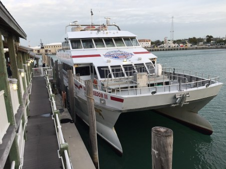 Yankee Freedom III at Key West for Dry Tortugas NP