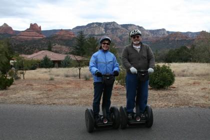 Mike and Edie on a Segway tour of Sedona, Arizona