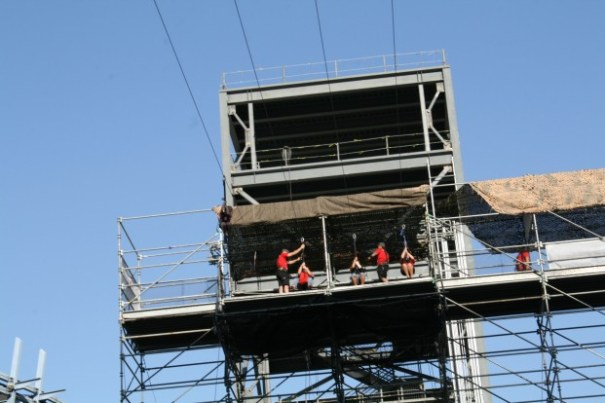 The jump off tower of the zip line.