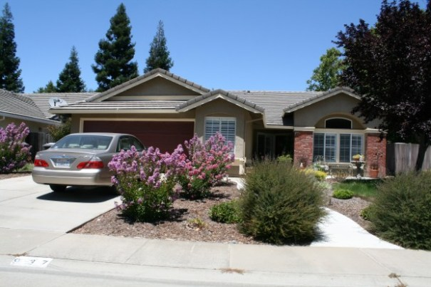 The first house we rented in Galt, Ca.