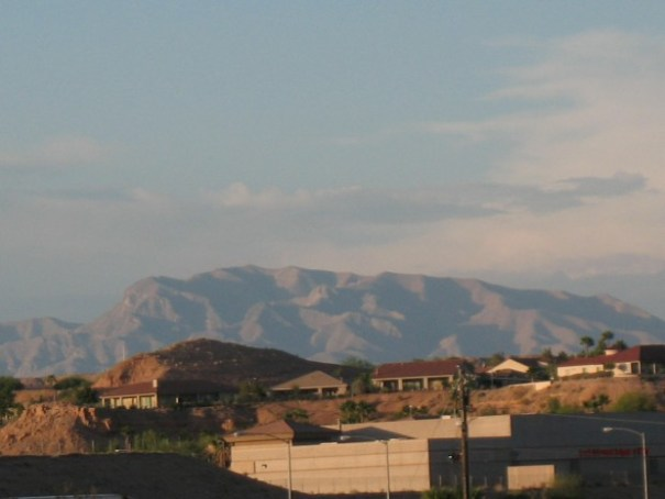 Hills to the north of Mesquite.  Most homes are very nice, hardly any for sale signs anywhere.