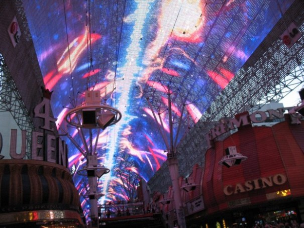 We especially went to Fremont Street to see the light show.  It was a technological marvel.  And it was very loud.  I really need to carry a pair of ear plugs.