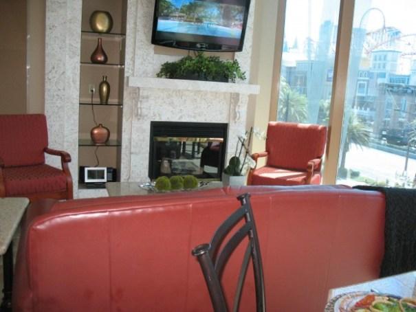 Mock timeshare living room