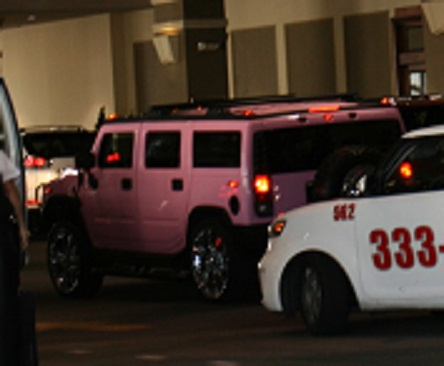 Pink Hummer, kind of a mixed message.