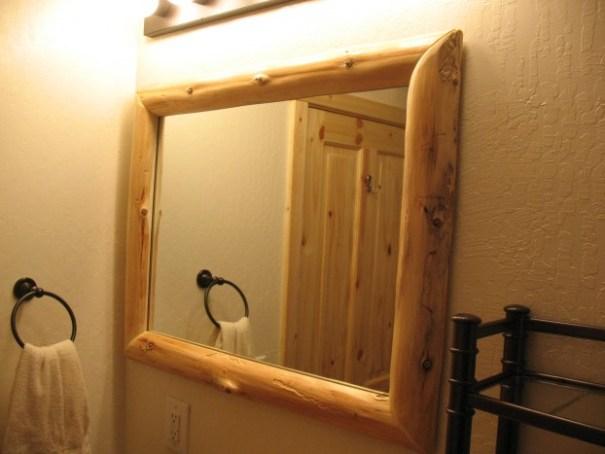 Cabin bathroom mirror