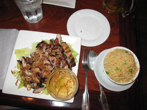 Charbroiled Chicken with Fried Rice, really good.