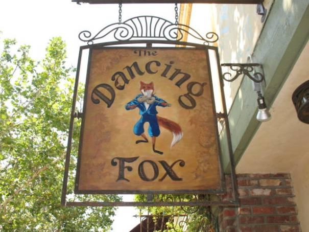 The Dancing Fox sign, Lodi, California.