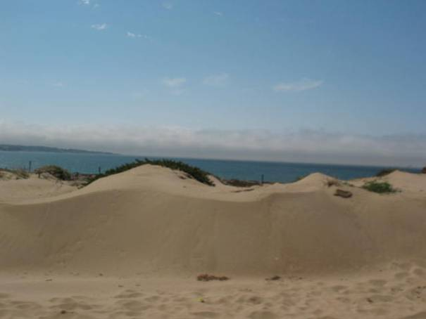 The sand dunes across Highway 1 from Sand City.