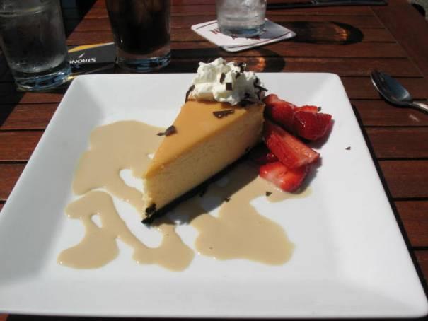 White Chocolate Cheesecake.  Really good.