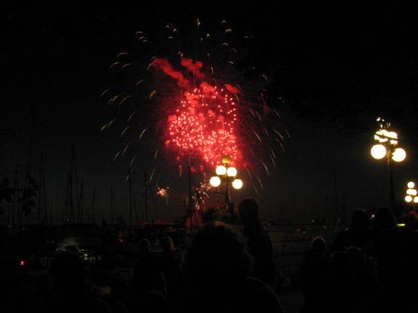 1812 Overture Crescendo featured cannon fire and fireworks.  Exhilarating!
