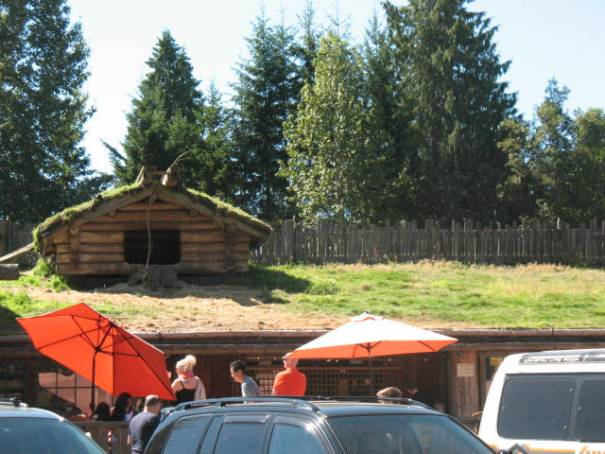 The Old Country Market in Coombs, where goats roam on the roof.  Started by a Norwegian!