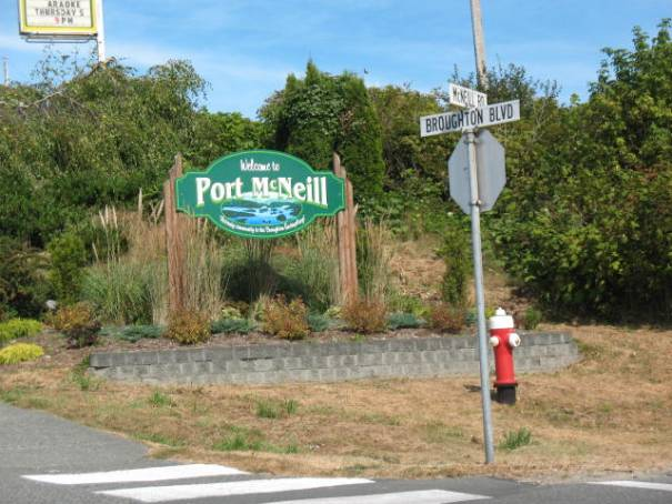 No trip up island is complete without a tour of Port McNeill.  A small town easy to drove through and see.