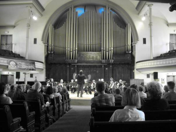 The Accordion Orchestra, in black and white!