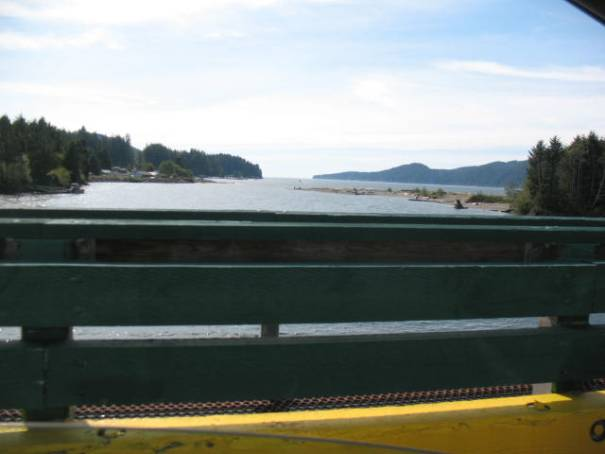 View from the one lane bridge.