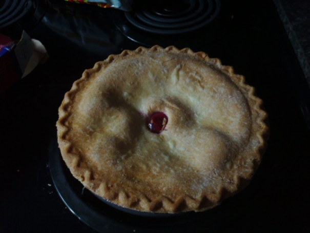 Fighting gout while celebrating birthday, wah-la, cherry pie!