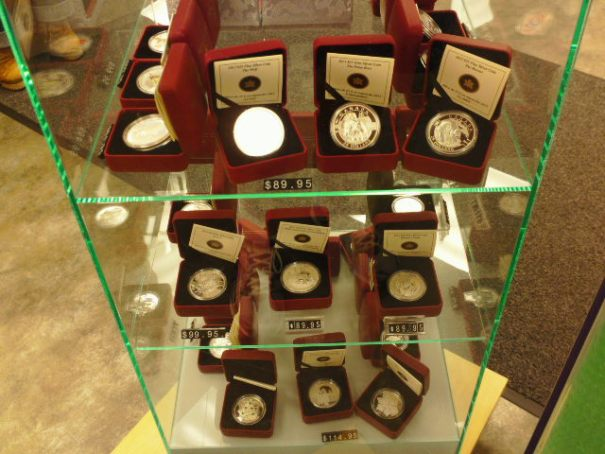 There are many silver coins for sale as well.