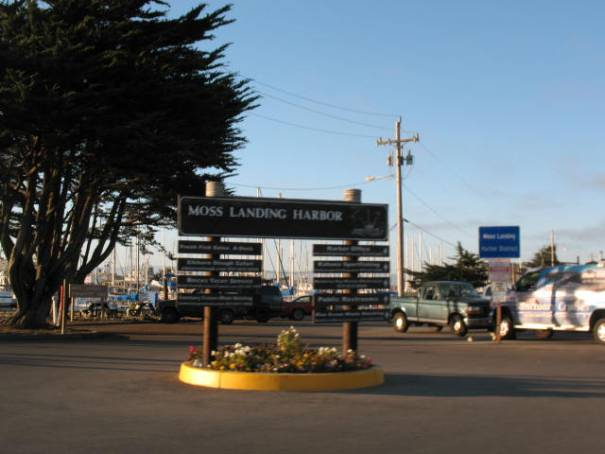Moss Landing, California, home of Phil's Fish Market.