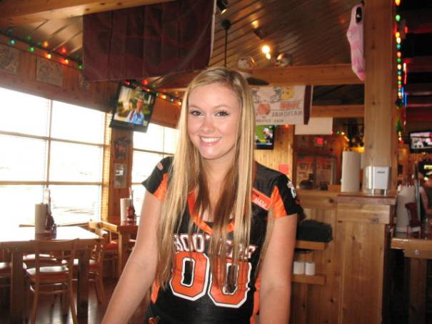 Our Hooters waitress, Alexa.