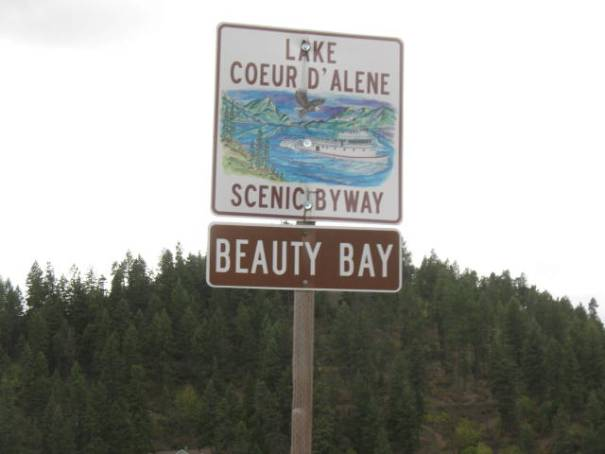 Lake Coeur d'Alene scenic byway is a beautiful drive.