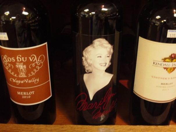 A bottle of Marilyn Merlot.