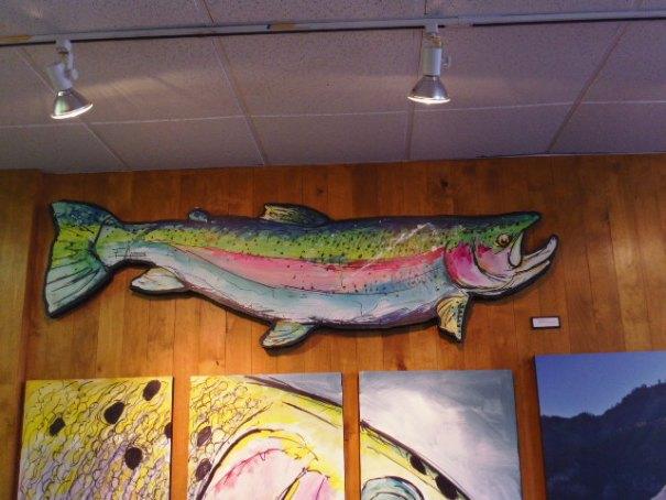 Edie loved the fish art.