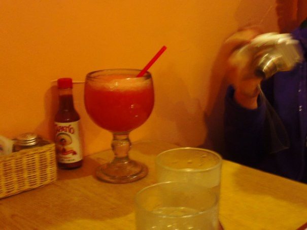 Edie and Lex both had a strawberry Margarita