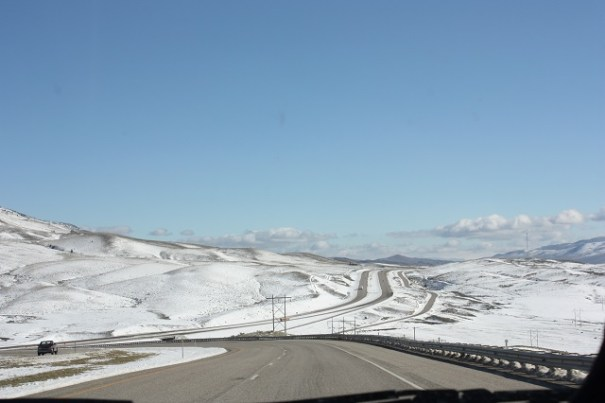 South on I-15, definite snow country.