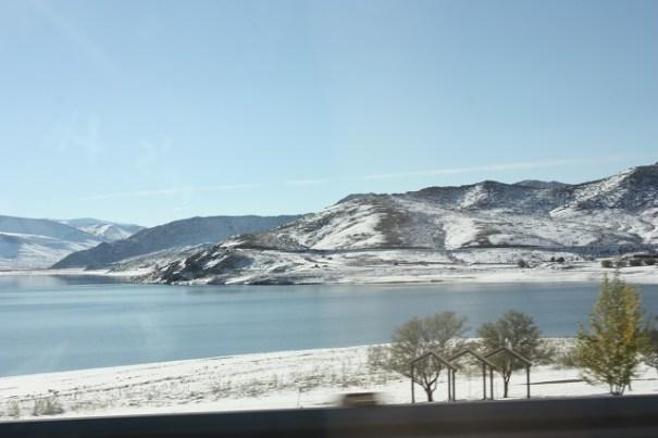 Pretty lake off I-15.