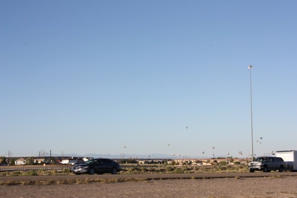 Pulling into Albuquerque we spotted hot air balloons.