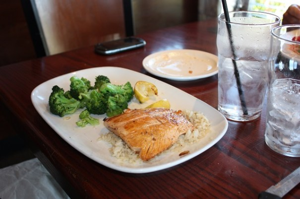 Mike's Salmon and Broccoli.