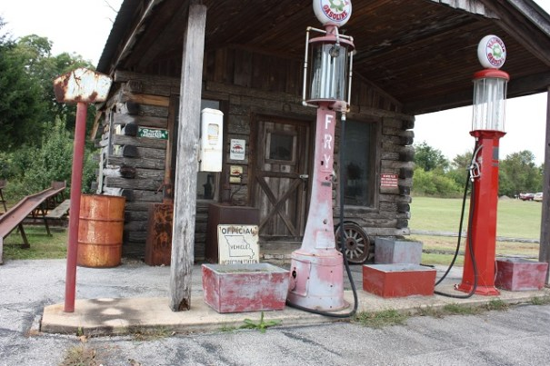 Antique Gas Station at the Mark Martin Car museum.  We passed on going inside.
