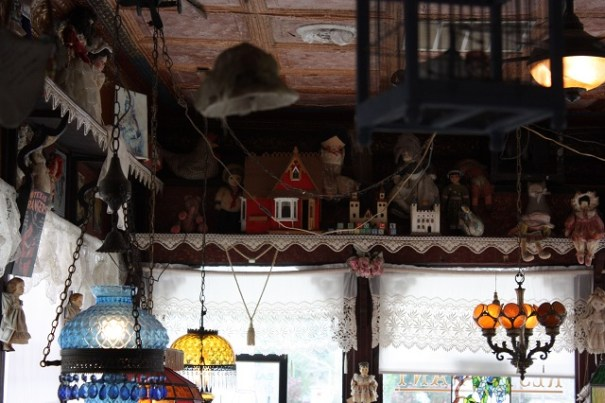 crafts galore and hanging from the ceiling.