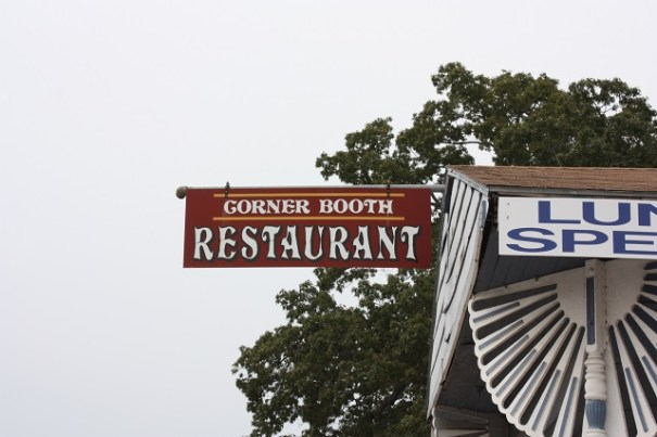 Lunch was at the Corner Booth in Hardy.