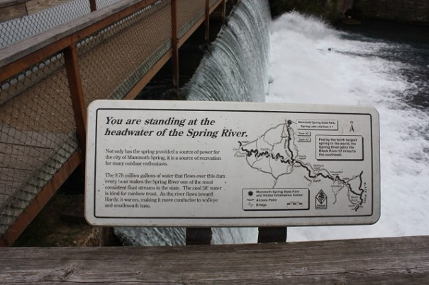 Headwater of the Spring River.