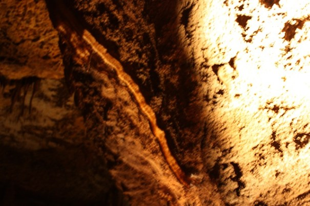 Photography in the cavern is really difficult.  The photos don't turn out most of the time.  This is called the bacon strip.