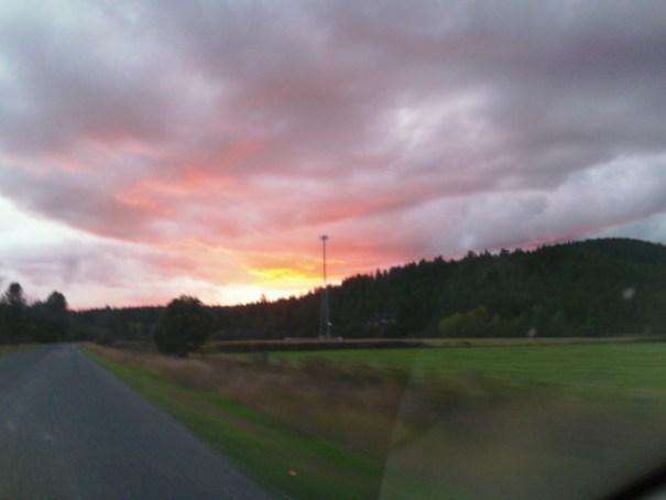 Fire in the sky in Idaho.