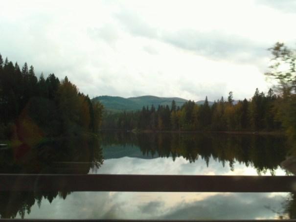 Lake at entrance to Stoneridge resort.