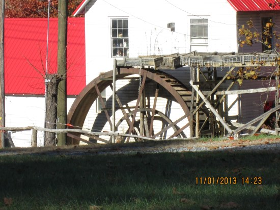 Water wheel on a mill from the 1800's.