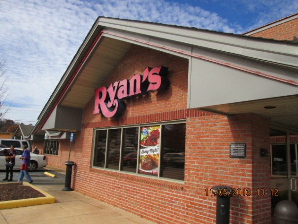 Ryan's Buffet for lunch.  We had the Toyota shuttle driver drop us off here.