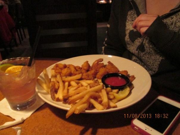 Lex's shrimp and fries.