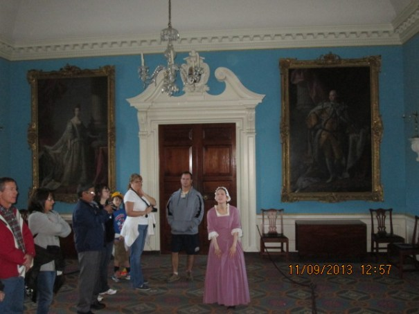 King George III and Queen Sarah, in the ball room.