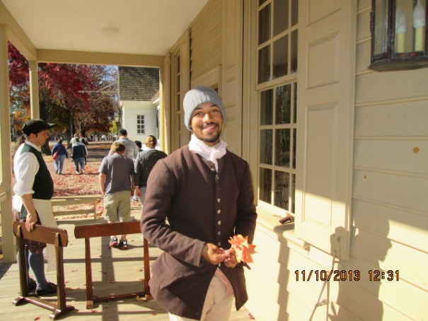 This guy was great.  He told us current as well as historical stories.  We had many questions which he answered very well.  88 employees live at the village. 2100+ employees.  Employed by the Colonial Williamsburg Foundation.  He worked here since he was 5.  Gets in character and is essentially an actor. Most enjoyable.