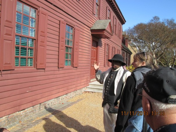 Peyton Randolph, our first president, died at 54 of a stroke.  We were given a tour from the perspective of a slave.  Very depressing.