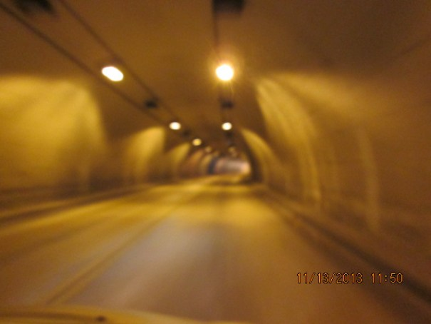 Long tunnel enroute to Jamestown.