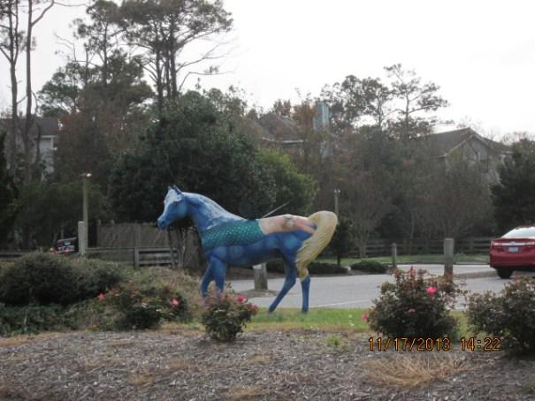 Horse statue.....