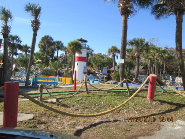 I think Myrtle Beach is the miniature golf course capitol of the world.